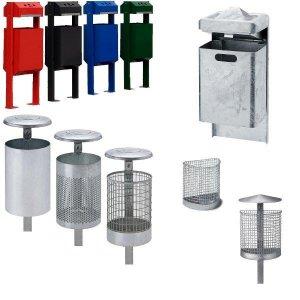 Abfallbehälter + Kombination mit Ascher