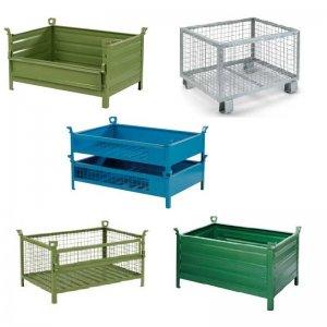 Transportbehälter und Gitterboxen