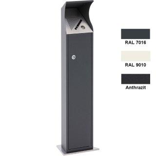 """Stand-Ascher  """"AS1020..""""  Aufstellen/Aufdübeln,  4 l , verzinkt und zusäztlich pulverbeschichtet"""