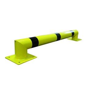 """Ramm-/Anfahrschutz """"RA 1...""""  Ø 108 / 159 mm x L 1500 / 2500 / 3500 mm, feuerverzinkt + gelb beschichtet + Streifen"""