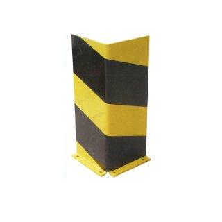 """Ramm-/Anfahrschutzwinkel """"RW .."""" Schenkellänge 160 mm x H 200 / 400 / 800 / 1000 / 1200 mm, feuerverzinkt + gelb + Streifen"""