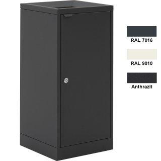 Design-Linie Abfallbehälter - A1020 - 100 l, rechteckig, Aufstellen/Aufdübeln, Edelstahl + Farbe