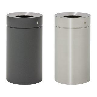 Design-Linie Abfallbehälter - A1070 - 75 l, rund, Aufstellen/Aufdübeln, Edelstahl / Edelstahl+Farbe