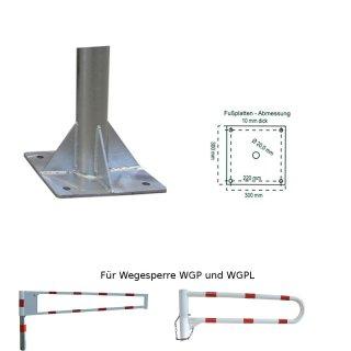 """Bodenplatte zum Aufdübeln für Wegesperren """"WGP / WGPL"""""""