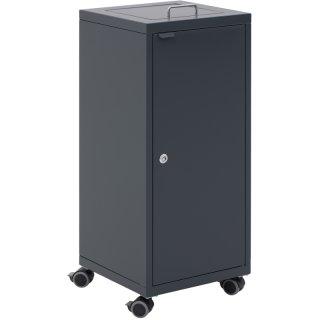 """Design-Linie Abfallbehälter """"A2030-ED100GRO-.."""", rechteckig, 100l, mit Rollen, Deckel  mit Griffbügel, Tür, Stahl + Farbe"""