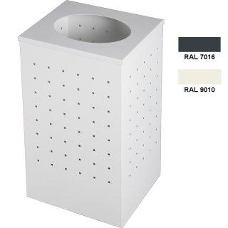 """Design-Linie Abfallbehälter """"A2060-ED30-.."""" rechteckig mit Deckel, 30l Inhalt, Stahl und pulverbeschichtet"""