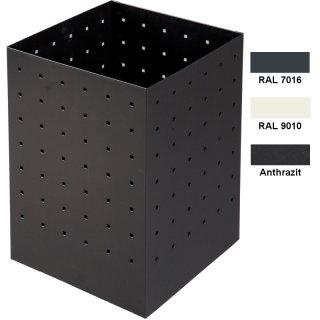 """Design-Linie Abfallbehälter """"A2070 E20-.."""" rechteckig, 20 l Inhalt, Stahl + pulverbeschichtet"""