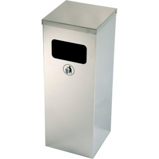 Design-Linie Abfallbehälter - A2080-ED50-VA - rechteckig, 50l, Einwurf Frontseite, Edelstahl / geschliffen