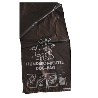 """Hundekotbeutel - HDS-BS - """"schwarz"""" für alle HDS und HBS Ausführungen - 2000 Stück pro Karton"""