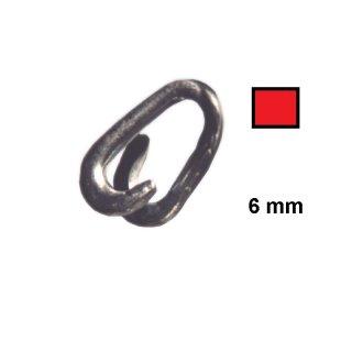 Notglied - NG6R - verzinkt und rot beschichtete, 6 mm