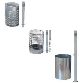Abfallbehälter - AB 33 G Lo Vo zur Wand-, Pfostenmontage oder zum Einbetonieren