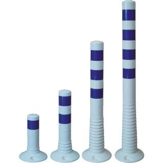Flexipfosten - FWB . - Weiß Blau retroreflektierend