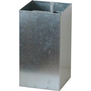 ABV-FD-50-I Innenbehälter, mit intergriertem Aschereinsatz und 1 Griff, Inhalt ca. 45 l, H 530 x B/T 280 mm, bandverzinkt