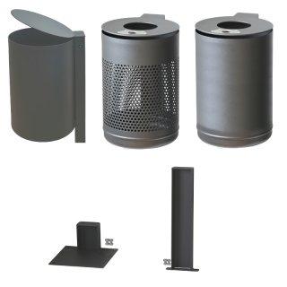 Abfallbehälter Station VS-FD mit flachem oder schrägem Deckel - DB 703