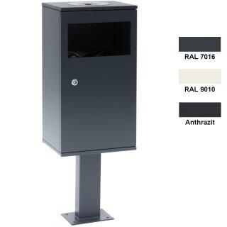 Design-Linie Abfallbehälter mit Ascher - A1120 - 40 l / 2 l, Aufdübeln