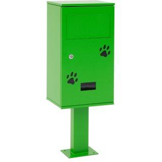 Design-Linie Hundetoilette - A1540 zum Aufdübeln, Material: Stahl verzinkt / RAL6018 gelbgrün