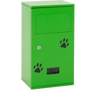 Design-Linie Hundetoilette - A1550, Pfostenmontage, verzinkt / RAL 6018 gelbgrün