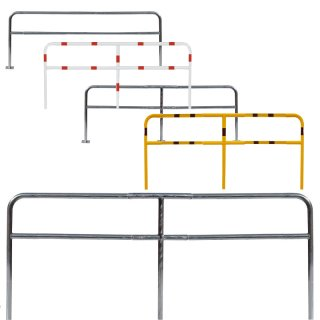 Schutzgeländer, Material Stahl, Ø 48mm, Höhe ü.Flur 1000mm, zum Einbetonieren oder Aufdübeln, feuerverzinkt oder zusätzlich gepulvert