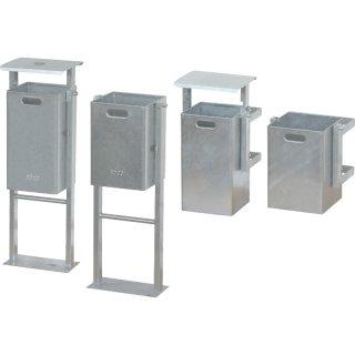 Abfallbehälter ABV-Doppelständer oder Wandbefestigung