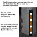 """Eckschutzschiene """"ECK1"""" gelb/schwarz"""
