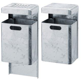 Abfallbehälter AP  mit Haube oder Ascherhaube