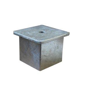 Abdeckkappe - ADK-8080-LO - lose einsteckbar, feuerverzinkt, für Bodenhülse 80 x 80 mm