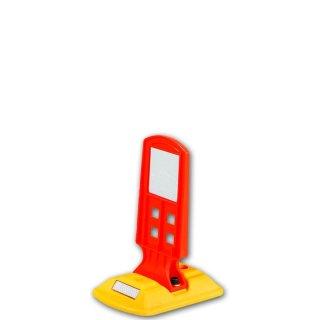 Leitschwelle  LTGA 4, kurz, gelb, Sichtzeichen kurz orange