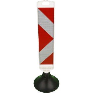 Warnbake WA 50 Pfeil rechts, B 150 mm x H 915 mm, rot-weiß