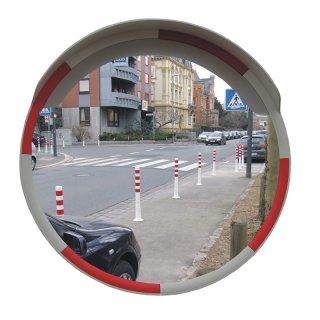 Rundspiegel SP8WR, D 800 mm, Farbe weiß/rot