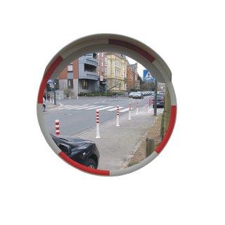 Rundspiegel SP6WR, D 600 mm, Farbe weiß/rot