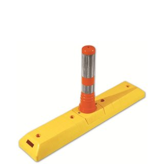Park- und Leitschwelle  LTF 465, lang, gelb, Flexipfosten klein orange