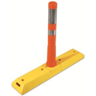 Park- und Leitschwelle  LTF 765, lang, gelb, Flexipfosten groß orange