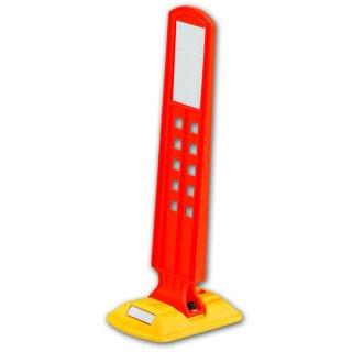 Leitschwelle  LTGA 5, kurz, gelb, Sichtzeichen groß orange